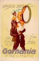 Auto Gothania Pneumatic Sign. Funke, E. Werbe-Karte I-II - Ansichtskarten
