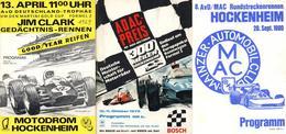 Auto Hockenheim (6832) Motodrom Lot Mit 5 Programmheften Und 1 Plakat 1967 - 1980 II - Ansichtskarten