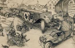 Auto Humor Mercedes Militär Künstlerkarte I-II - Ansichtskarten