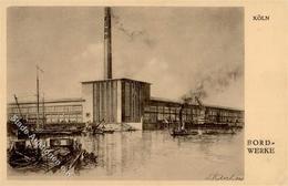 Auto Köln Ford Werke Künstlerkarte I-II - Ansichtskarten