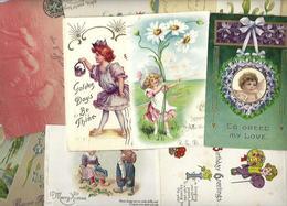 Lot 2035 De 10 CPA Fantaisies Gaufrées Embossed Illustrateurs Déstockage Pour Revendeurs Ou Collectionneurs - 5 - 99 Karten