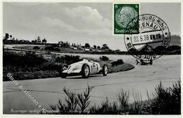 Auto Motorsport Nürburg Ring Rosenmeyer Verfolgt Caracciola Foto-Karte I-II - Ansichtskarten
