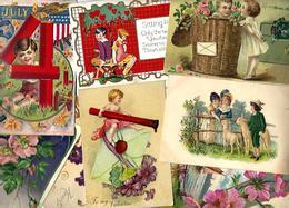 Lot 2036 De 10 CPA Fantaisies Gaufrées Embossed Illustrateurs Déstockage Pour Revendeurs Ou Collectionneurs - 5 - 99 Karten