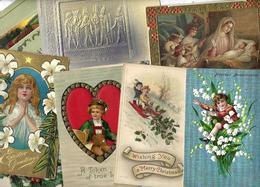 Lot 2037 De 10 CPA Fantaisies Gaufrées Embossed Illustrateurs Déstockage Pour Revendeurs Ou Collectionneurs - 5 - 99 Karten