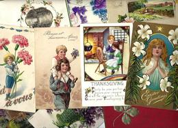 Lot 2038 De 10 CPA Fantaisies Gaufrées Embossed Illustrateurs Déstockage Pour Revendeurs Ou Collectionneurs - 5 - 99 Karten