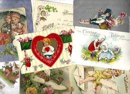 Lot 2039 De 10 CPA Fantaisies Gaufrées Embossed Illustrateurs Déstockage Pour Revendeurs Ou Collectionneurs - 5 - 99 Karten