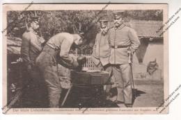 Cpa Ww1 : Der Letzte Liebesdienst (Soldat Sculpte Pierre Tombale Devant Officiers) Tampon KB 1 Landwehr Division - Guerre 1914-18