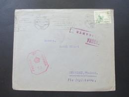 Spanien 1940 Alicante - Helsinki Finnland Via Inglaterra Censura Alicante Und Britische Zensur Passed By Censor T.2 - 1931-Heute: 2. Rep. - ... Juan Carlos I