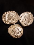 Lot De 3 Antoniniens Valérien, Valérien II, Salonina - 5. The Military Crisis (235 AD Tot 284 AD)
