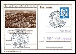 98418) BRD - P 81 - 44/334 - Ortsgleich OO Gestempelt - 3421 Scharzfeld, Ortsansicht - Illustrated Postcards - Used