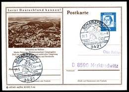98419) BRD - P 81 - 44/334 - Ortsgleich OO Gestempelt - 3421 Scharzfeld, Ortsansicht - Illustrated Postcards - Used
