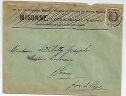 Enveloppe Brasserie Misonne à Lodelinsart 1911 - Belgique