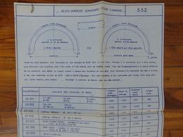 PEUGEOT  CITROEN RENAULT 1000 KG PLAN FICHE  FABRICATION AILES ARRIERE GRAPPIN ANNAT HOUILLES 1966 - Trucks