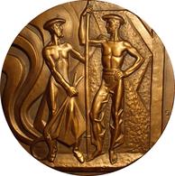 ESPAÑA. MEDALLA F.N.M.T. 75º ANIVERSARIO ALTOS HORNOS DE VIZCAYA. 1.977. BRONCE. ESPAGNE. SPAIN MEDAL - Profesionales/De Sociedad