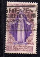 ITALY REPUBLIC ITALIA REPUBBLICA 1948 SANTA CATERINA LIRE 10 USATO USED - 6. 1946-.. Republic