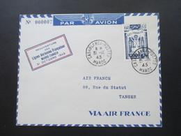 Marokko RMaroc 1945 Reouverture Des Lignes Aeriennes Francaises Maroc - Tanger Via Air France No 000007 - Marokko (1891-1956)