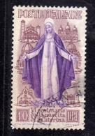 ITALY REPUBLIC ITALIA REPUBBLICA 1948 SANTA CATERINA LIRE 10 USATO USED OBLITERE' - 1946-60: Gebraucht