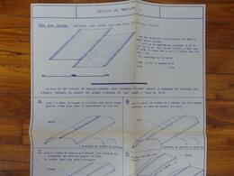 CAMION PEUGEOT  CITROEN RENAULT 1000 KG PLAN FICHE  DESSUS DE PAVILLON GRAPPIN ANNAT HOUILLES 1966 - Trucks