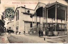 5820   -2019  MONTELIMAR   RUE STE CROIX  L EGLISE ET LA HALLE - Montelimar