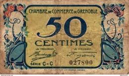 6907-2019    BILLET CHAMBRE DE COMMERCE  DE  GRENOBLE - Camera Di Commercio