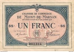 6929-2019    BILLET CHAMBRE DE COMMERCE  DE  MONT DE MARSAN - Camera Di Commercio