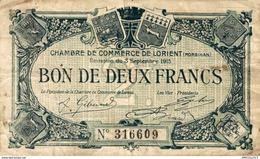 6958-2019    BILLET CHAMBRE DE COMMERCE DE LORIENT - Camera Di Commercio