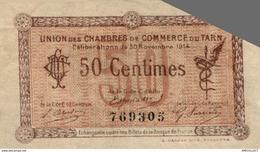 6961-2019    BILLET CHAMBRE DE COMMERCE DU TARN - Camera Di Commercio