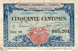 6969-2019    BILLET CHAMBRE DE COMMERCE DE CORBEIL - Chambre De Commerce
