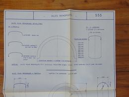 CAMION PEUGEOT  CITROEN RENAULT 1000 KG PLAN FICHE AILES REMORQUES VANNE VIDANGE BETAILLERE  GRAPPIN ANNAT HOUILLES 1966 - Trucks