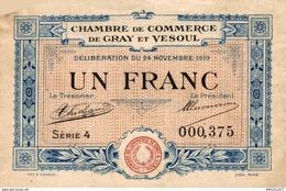 7021-2019    BILLET CHAMBRE DE COMMERCE DE  GRAY ET VESOUL - Chambre De Commerce