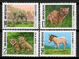 Korea North 1998 Corea / Mammals And Baby Animals Tiger Lion Elephant MNH Mamíferos Crías Säugetiere / Cu12800  36-20 - Sellos