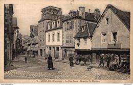 8663 -2019      MORLAIX    LA RUE BASSE   QUARTIER ST MATHIEU - Morlaix