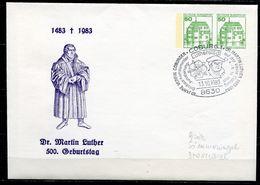 "Germany 1983 Privatganzsache DR.MARTIN Luther Mi.Nr.PU ???? Mit SST""Coburg 1-Dr.M.Luther Auf D.Veste Coburg""1GS Used - Theologen"