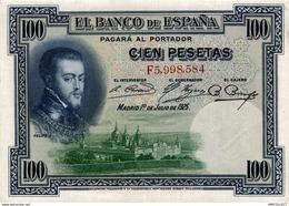 8737  -2019     BILLET DE 100 PESETAS 1925 - [ 1] …-1931 : Prime Banconote (Banco De España)