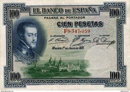 8736 -2019     BILLET DE 100 PESETAS 1925 - [ 1] …-1931 : Prime Banconote (Banco De España)