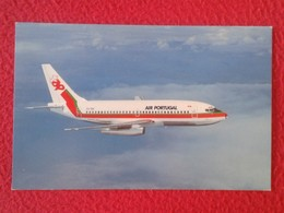 POSTAL POST CARD QSL RADIOAFICIONADOS RADIO AMATEUR AVIÓN PLANE AIR PLANE BOING 737 TAP AIR PORTUGAL AIR LINES VER FOTOS - Tarjetas QSL