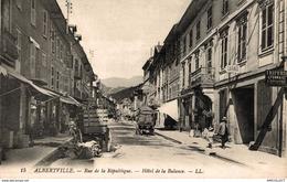 3708-2019   ALBERTVILLE   RUE DE LA REPUBLIQUE   HOTEL DE LA BALANCE - Albertville
