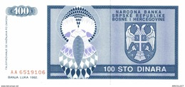7158-2019    BILLET ETRANGER    BOSNIE HERZEGOVINE - Bosnië En Herzegovina