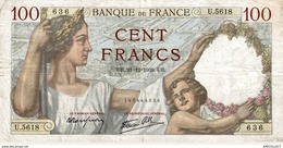 7630-2019    BILLET  DE BANQUE  21-12-1939 - 1871-1952 Antichi Franchi Circolanti Nel XX Secolo