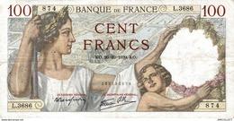 7637-2019    BILLET  DE BANQUE 26-10-1939 - 100 F 1939-1942 ''Sully''