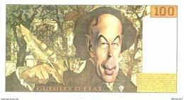451-2019   BILLET DE 100 FRANCS  HUMORISTIQUE GUEULES D ETAT - Specimen