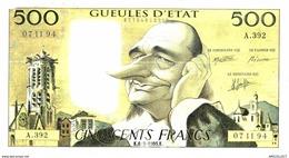 453-2019   BILLET DE 500 FRANCS  HUMORISTIQUE GUEULES D ETAT - Specimen