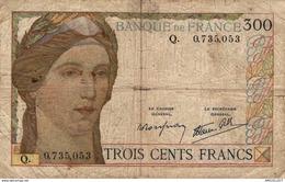 485-2019   BILLET DE 300 FRANCS TYPE 1938 LETTRE Q - 1871-1952 Antiguos Francos Circulantes En El XX Siglo