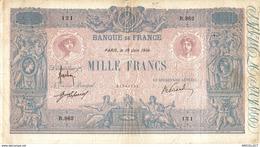 492-2019   BILLET DE 1 000 FRANCS BLEU ET ROSE DU 10-06-1914 - 1 000 F 1889-1926 ''Bleu Et Rose''