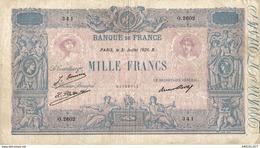 497-2019   BILLET DE 1 000 FRANCS BLEU ET ROSE DU 31-07-1926 - 1 000 F 1889-1926 ''Bleu Et Rose''