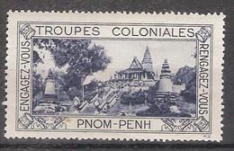 Vgt015 - Vignette Troupes Coloniales - PNOM PENH - Tourism (Labels)