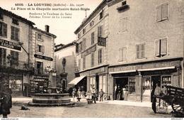624-2019   LA LOUVESC   LA PLACE ET LA CHAPELLE MORTUAIRE ST REGIS - La Louvesc