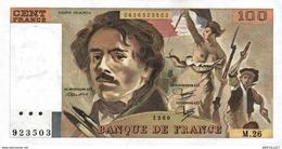 912-2019     BILLETS FRANCAIS DELACROIX DE 100 FRANCS 1980 - 100 F 1978-1995 ''Delacroix''