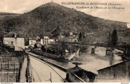 1203-2019    VILLEFRANCHE DE ROUERGUE   CONFLUENT DE L ALZOU ET DE L AVEYRON - Villefranche De Rouergue