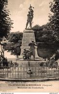 1205-2019    VILLEFRANCHE DE ROUERGUE  MONUMENTS DES COMBATTANTS - Villefranche De Rouergue